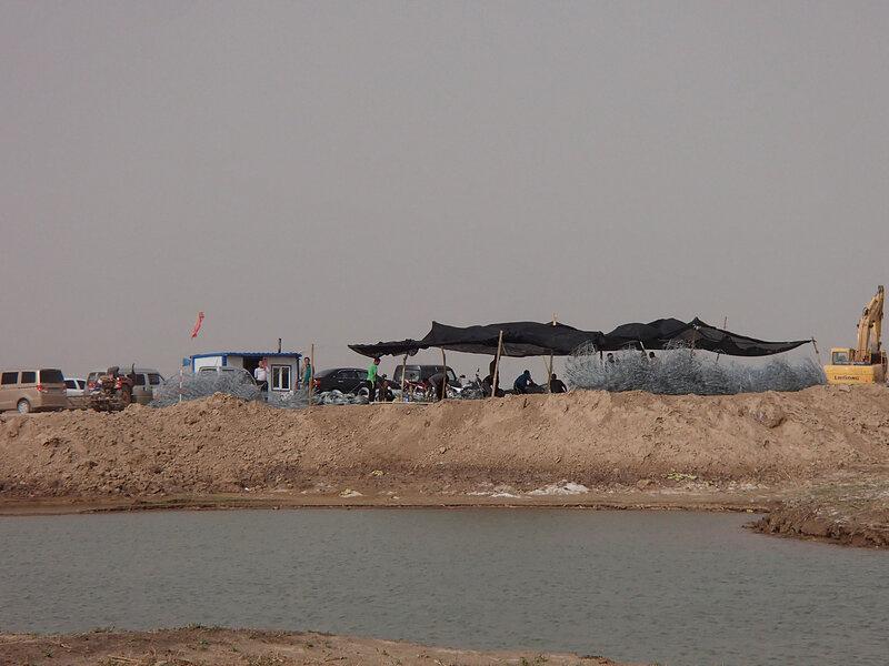строительство дамбы на хуахэ во внутренней монголии