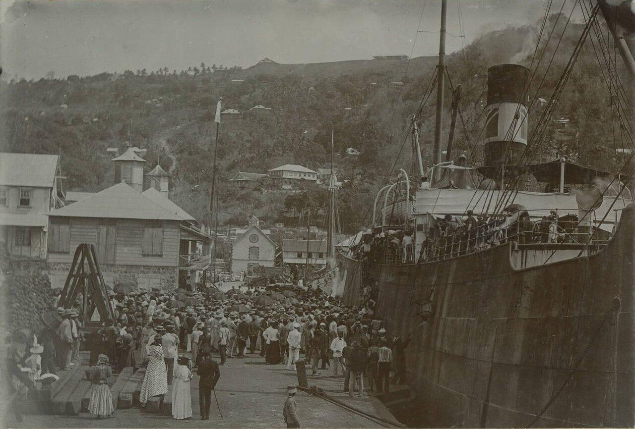 Высадка беженцев в Сент-Люсии