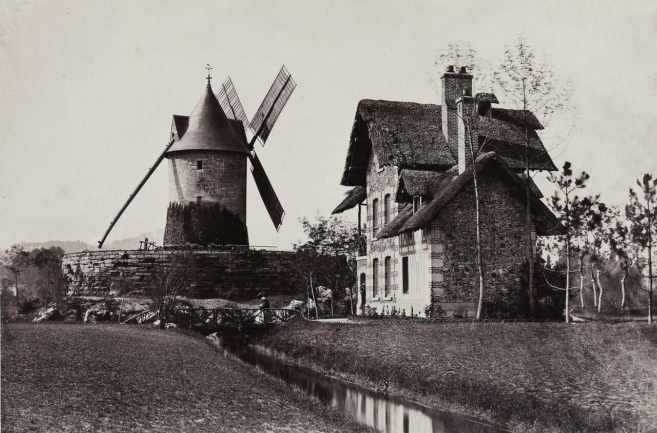 1862. Мельница в Лоншане. Булонский лес