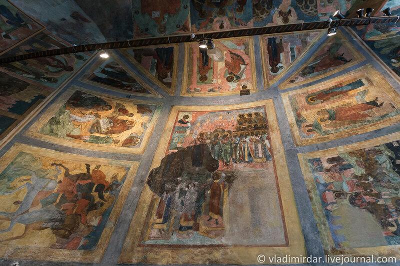 Настенные росписи Покровского придела Храма Пророка Ильи в Ярославле