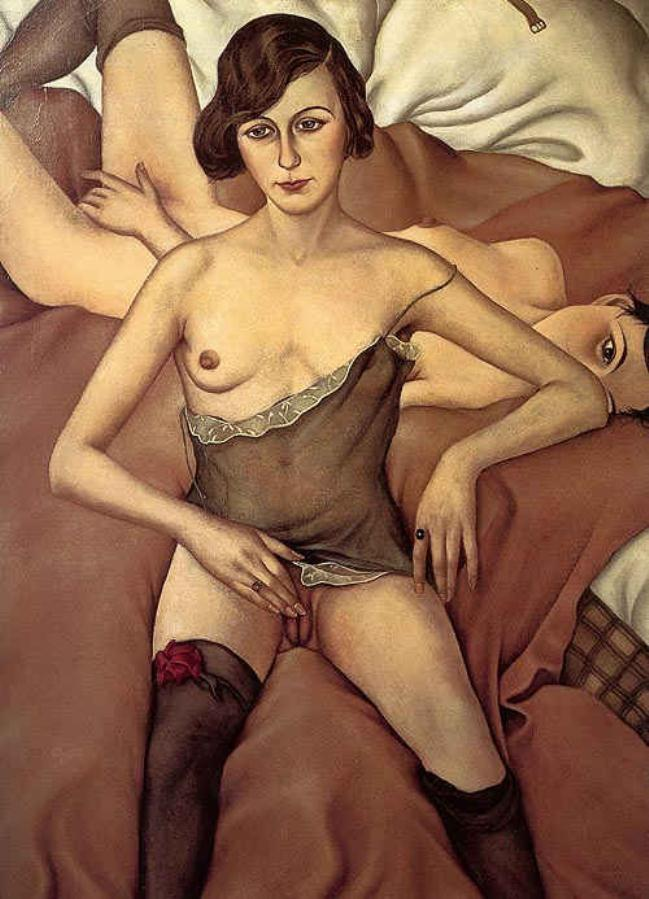 Two Girls, 1928 by Christian Schad