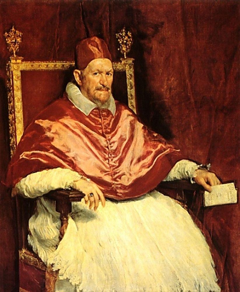 Веласкес, около 1650 г.  Иннокентий X, Папа Римский с 15 сентября 1644 по 7 января 1655.