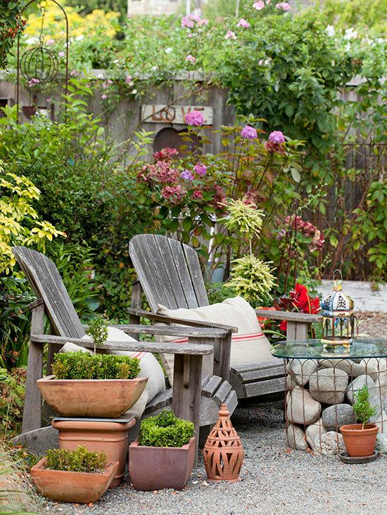 Садовые дворики. Ландшафтный дизайн  - фото 6