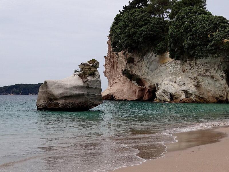 Скалистые берега Новой Зеландии
