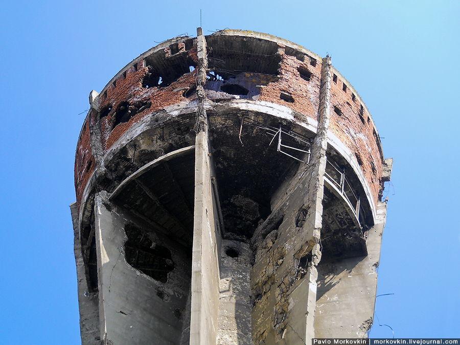 Водонапорная башня в городе Вуковаре
