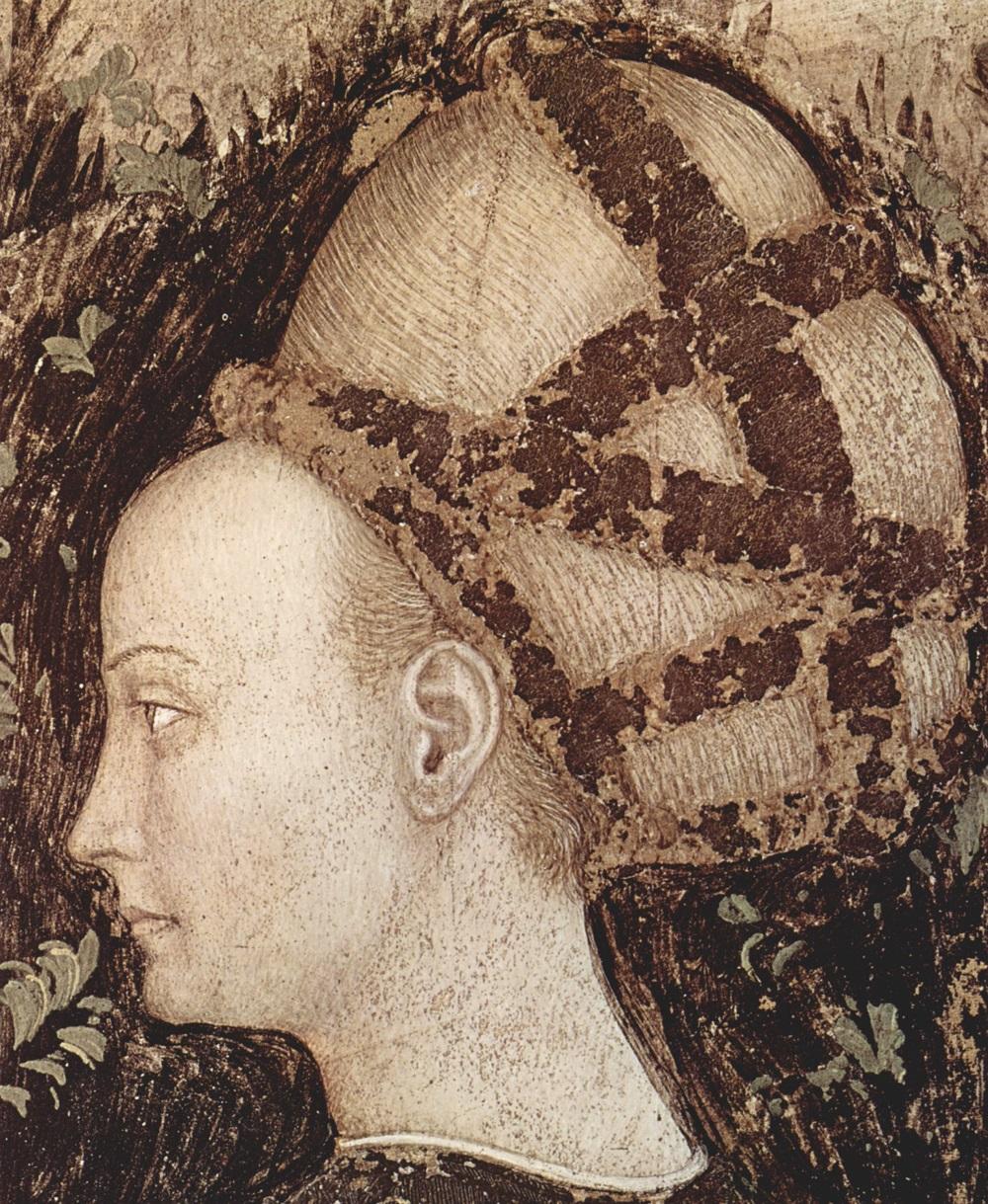 1433-1 Антонио Пизанелло (1395–1455) Fresken in Sant' Anastasia, Verona 1436-1438 Georg und die Prinzessin, Detail.jpg