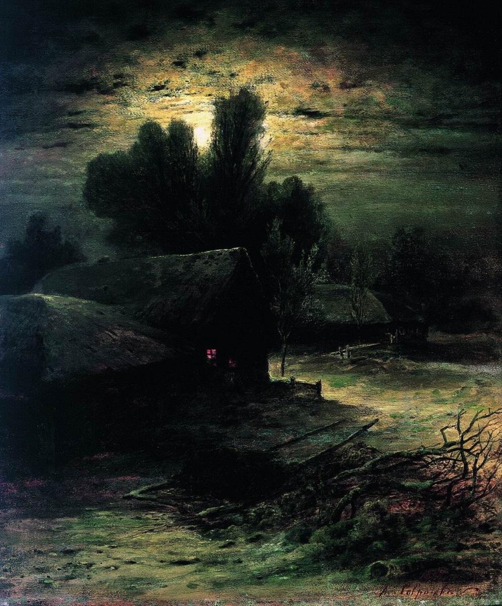 Зимняя ночь 1869 холст масло 60 х 51 см.jpg