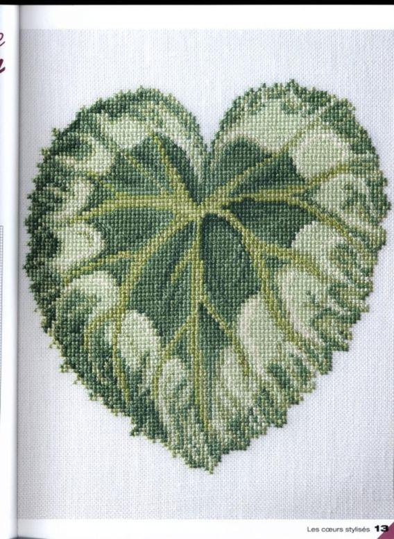 Сердца - схемы для вышивки крестом