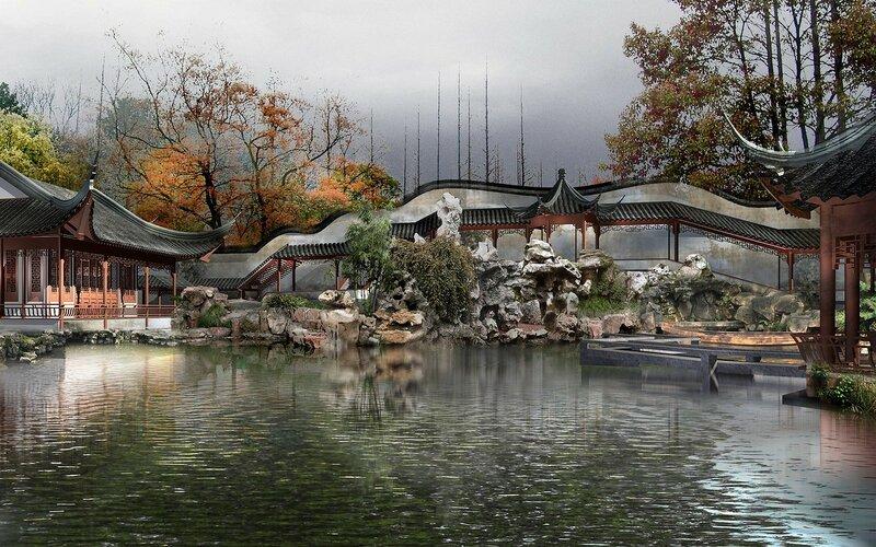 Красивые китайские пейзажи. Фотографии природы Китая, похожей на картины 0 1c4d41 14045c45 XL