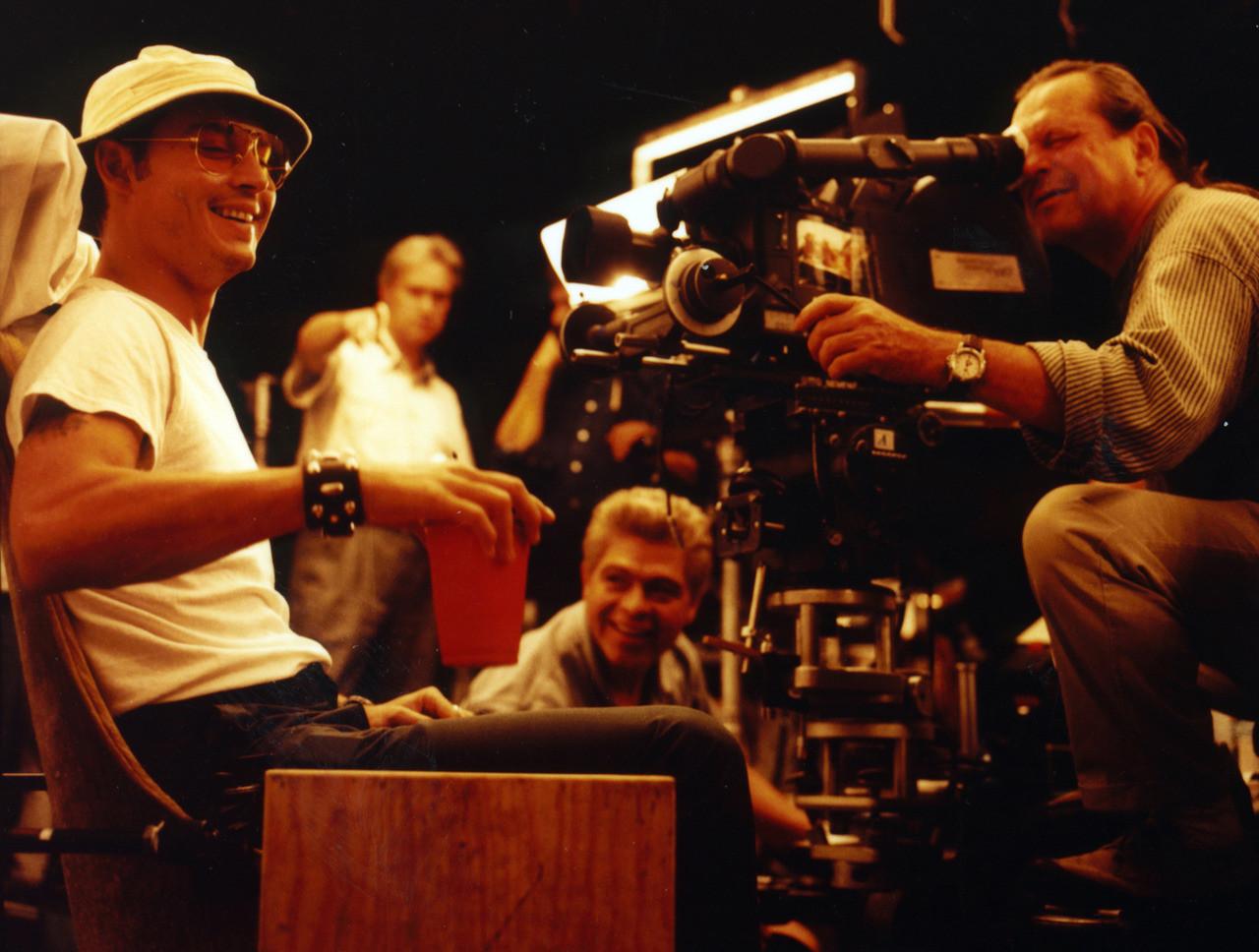 Джонни Депп на съемках фильма «Страх и ненависть в Лас-Вегасе», 1997 год