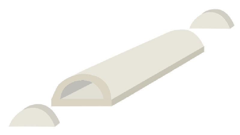 Бревно из поролона - схема склейки