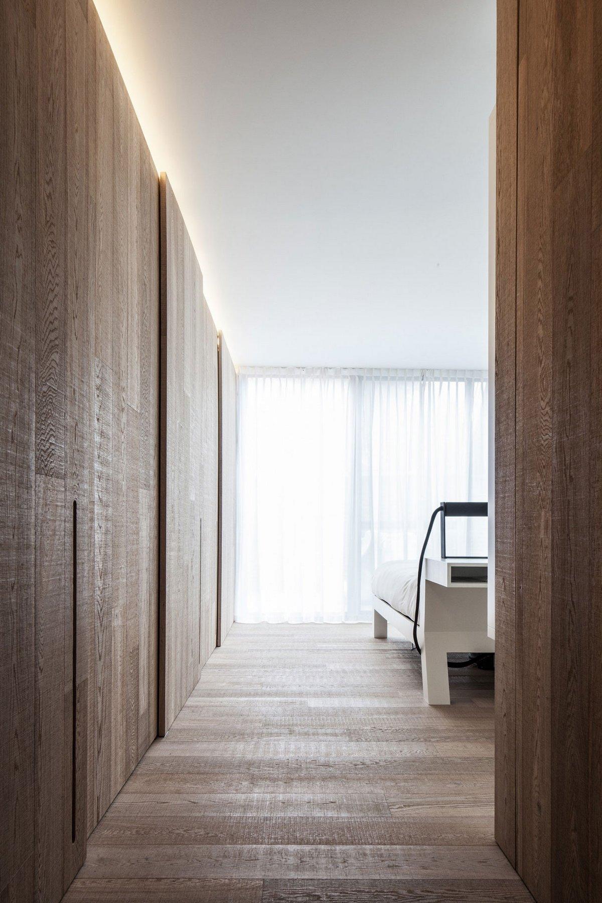 фотограф Tim Van de Velde, A.C. ARCHITECTS, лофт в Билзен, квартира в Бельгии, квартира для инвалида, Loft MM, дуб в интерьере помещения, лофт