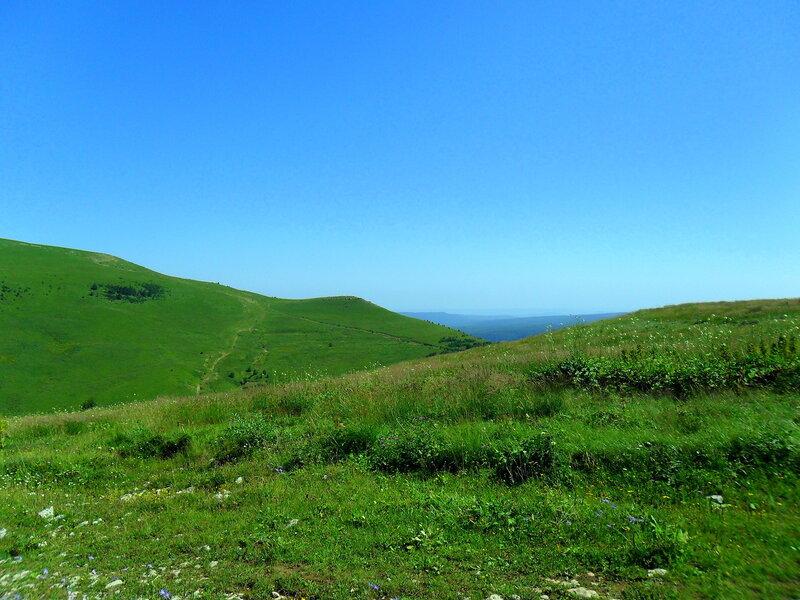 На плато, Фото туристическое