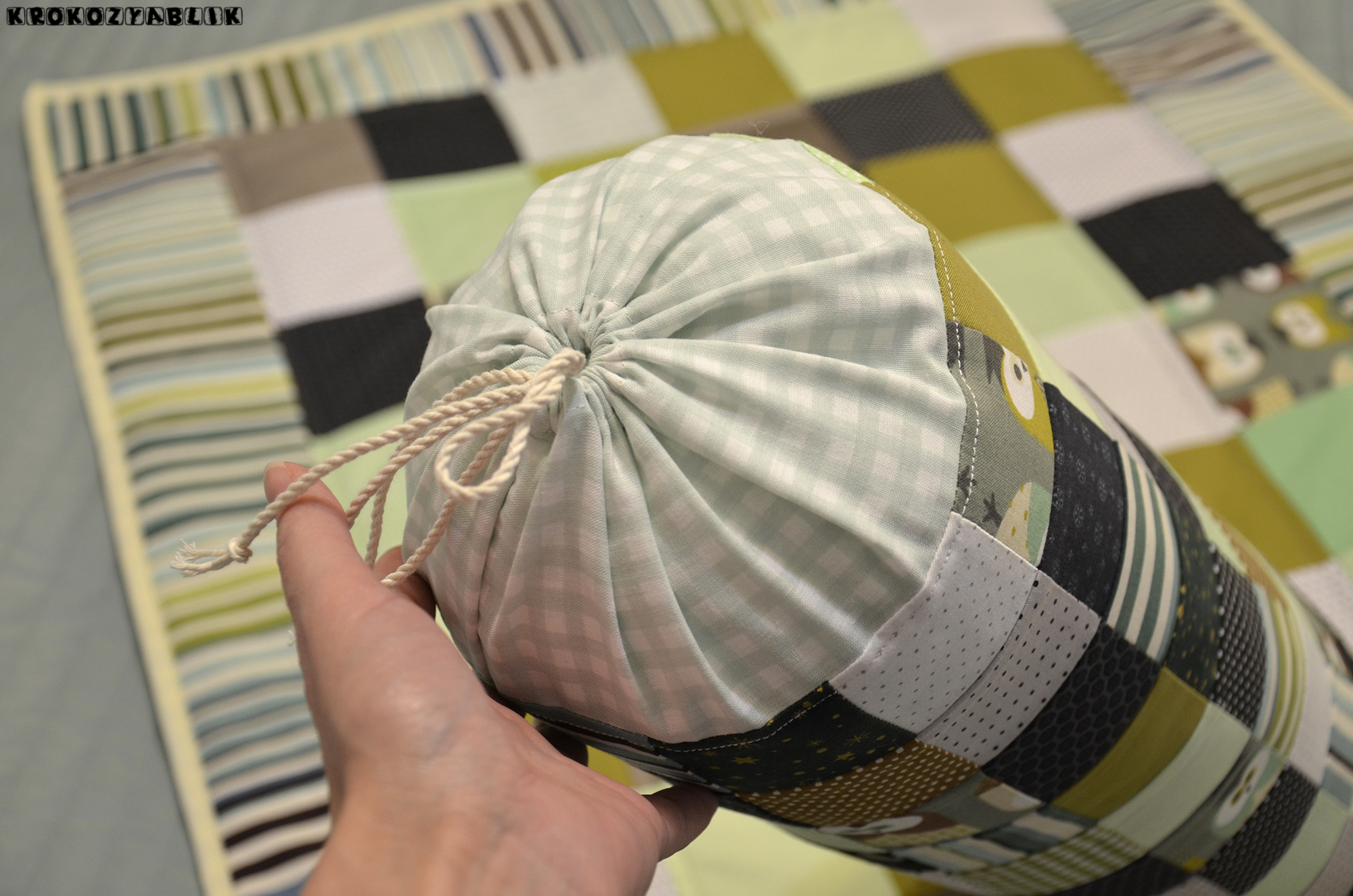 покрывало подушка-валик сова (4).JPG