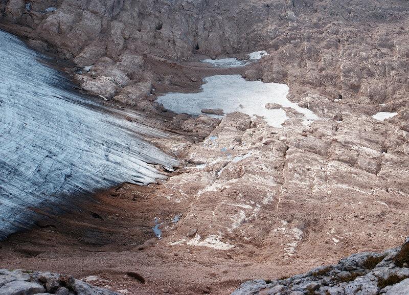 Западная часть фиштинского ледника.