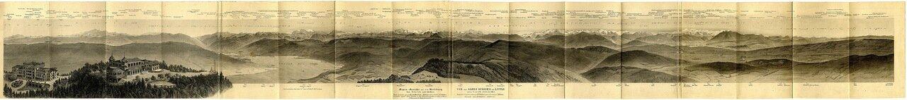 1879. Панорама Альп в районе Цюриха