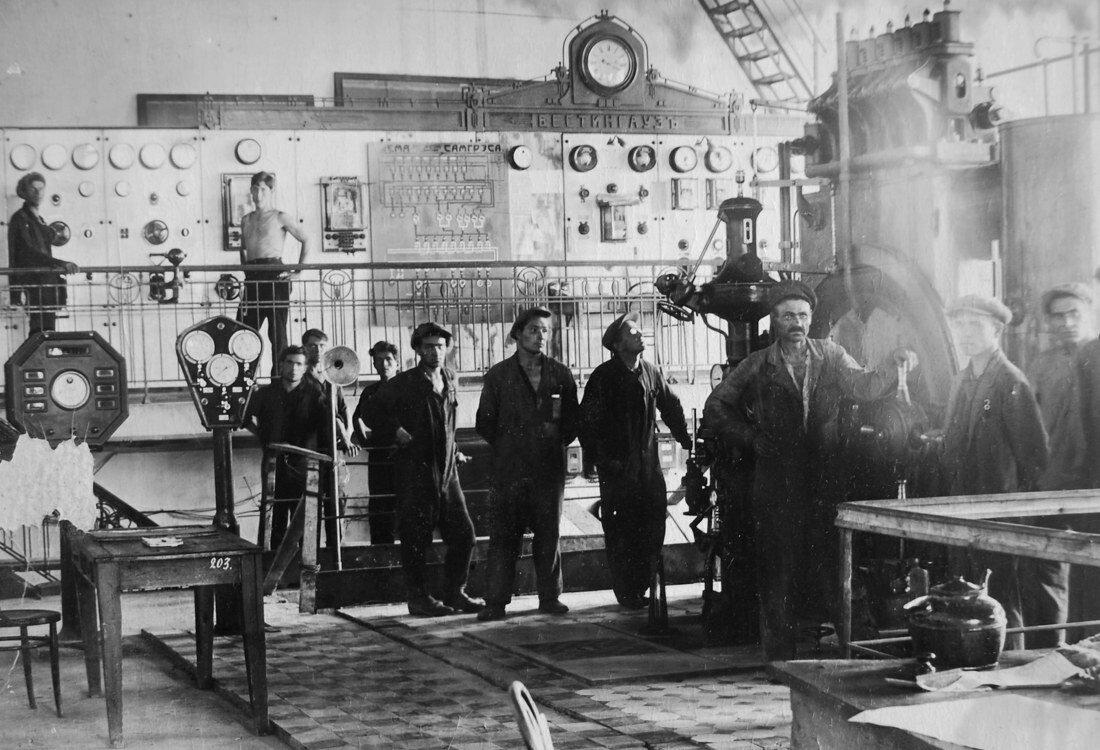 1931. Пуск турбогенератора №1 после монтажа