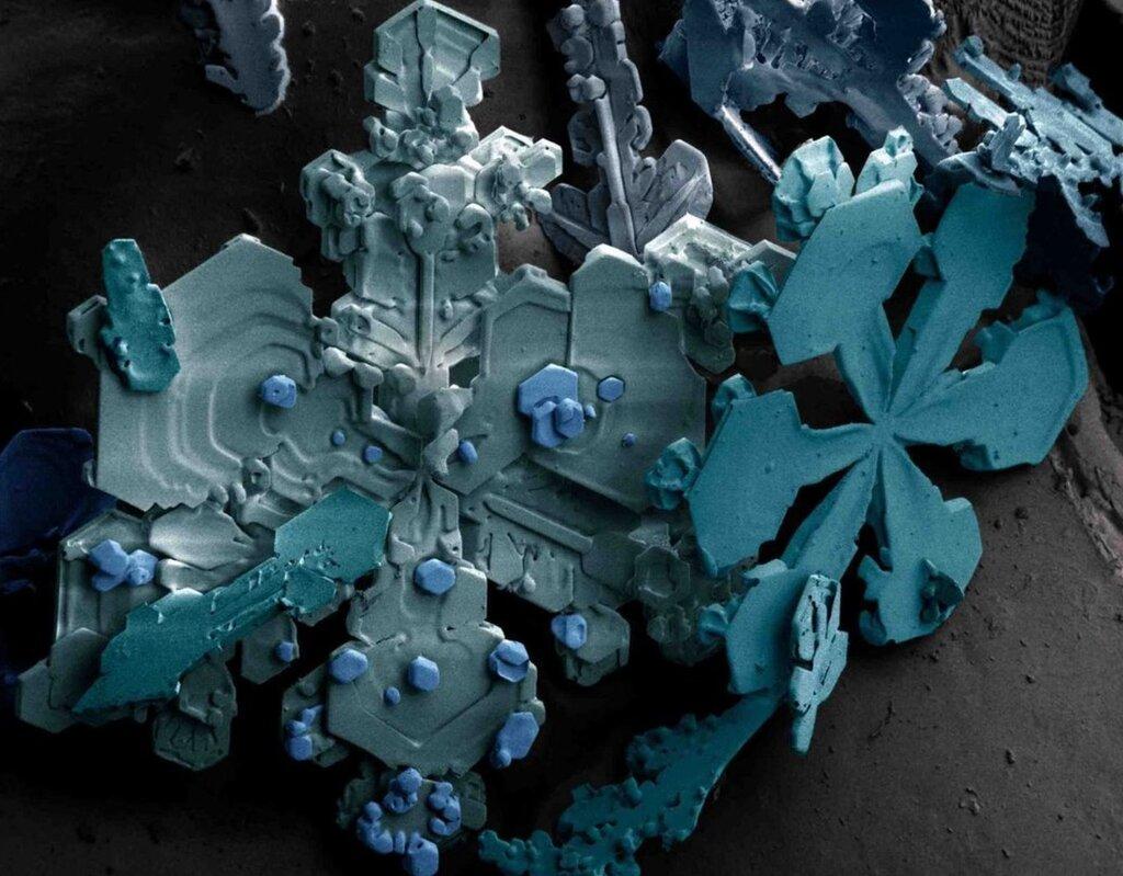Снег кристаллы