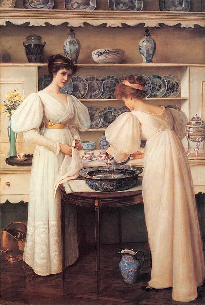Blue and White, 1896, Louise Jopling __ 1843-1933 (United Kingdom)
