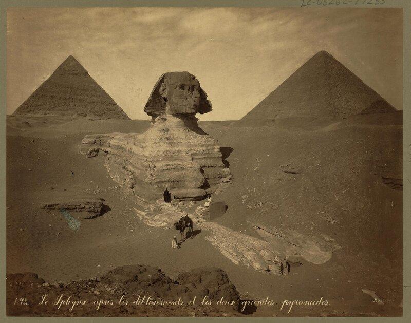 Египет, Сфинкс. 1867-1899