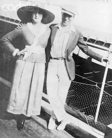 Mildred and Charlie Chaplin on Honeymoon