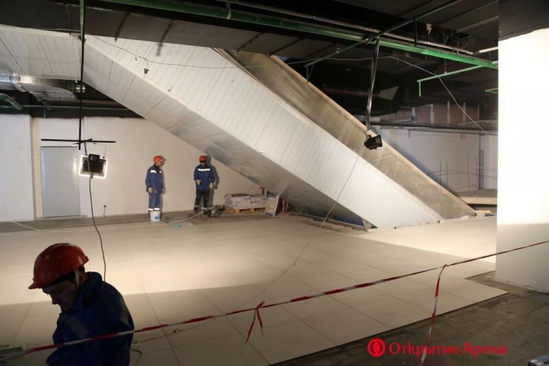 Строительство стадиона «Спартак». Февраль 2014 (Фото)
