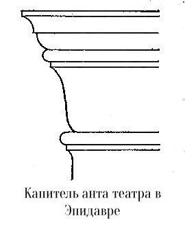 Капитель анта амфитеатра в Эпидавре