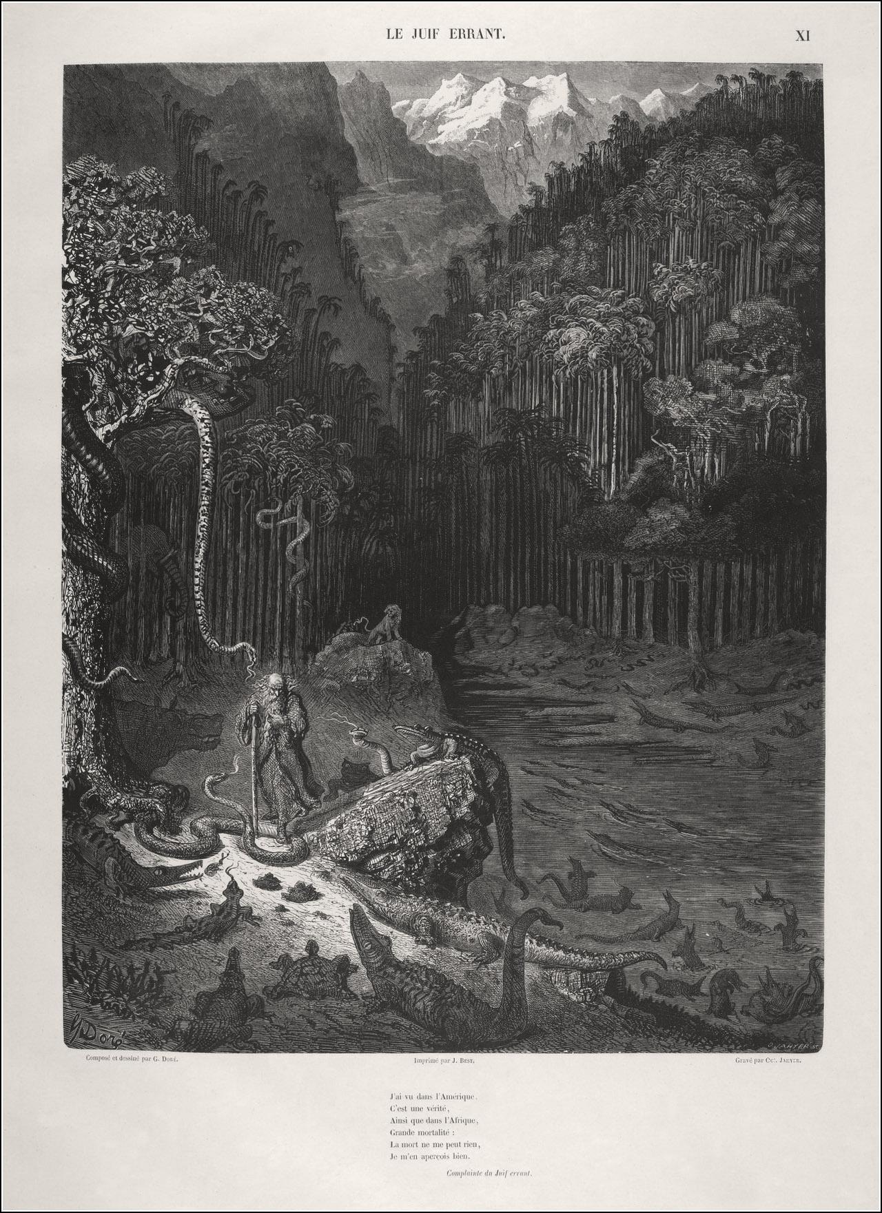 Gustave Doré, La légende du Juif errant