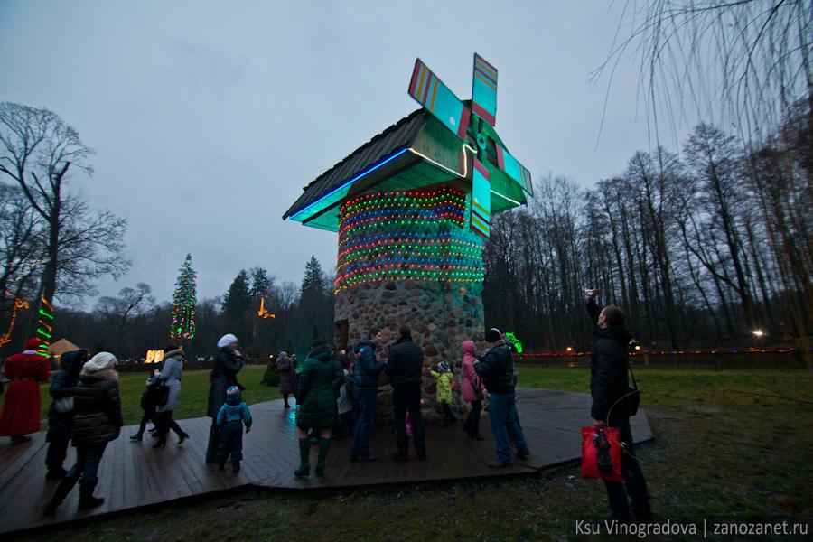 Белоруссия. Беловежская пуща. Усадьба белорусского Деда Мороза.