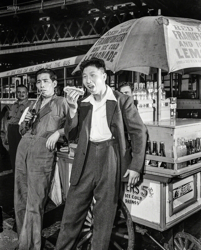 September 1942. New York City. First Chinese seamen granted shore leave in wartime America