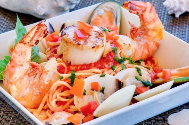 Чтобы узнать, как готовить, нажмите сюда. Ингредиенты: 100г спагетти 10г чеснока 20г оливок сорта