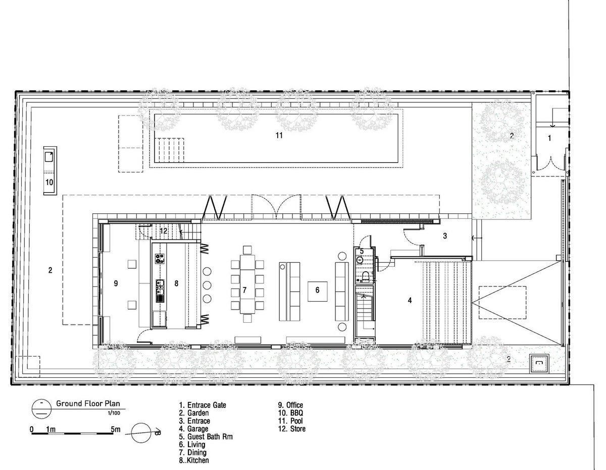 MimA NYstudio, Real Architecture, дома в Хошимин, частный дом во Вьетнаме, трехэтажный дом проект фото, частный дом в центре города, дом с бассейном