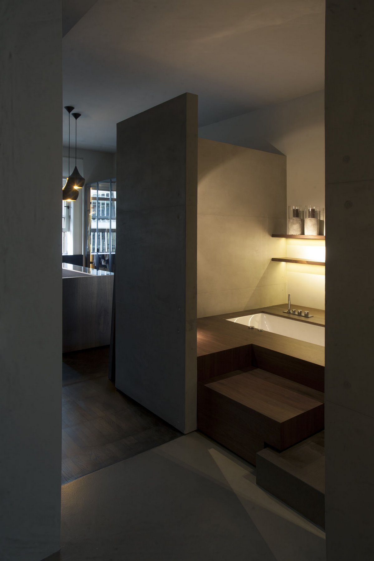 Проект компании Fabio Fantolino, Giolitti, Fabio Fantolino, квартира в Турине, современный интерьер квартиры, дизайн двухкомнатной квартиры фото
