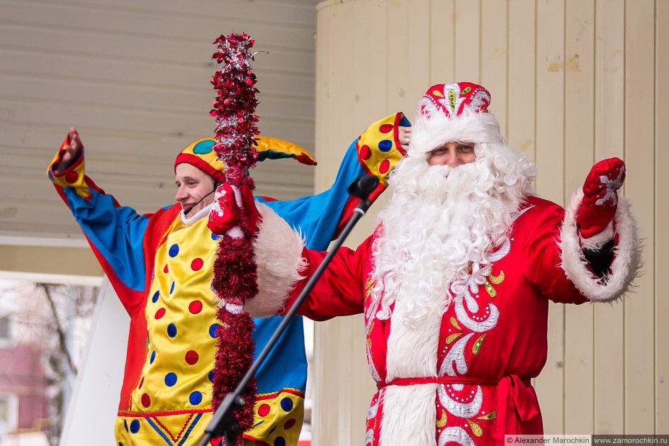 Дед Мороз и скоморох