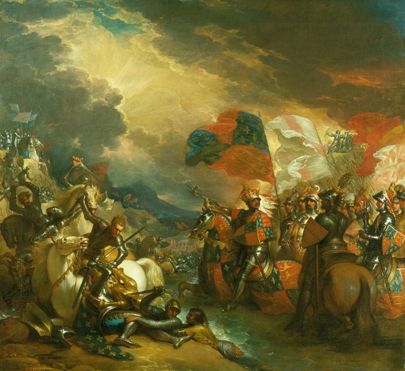 Бенджамин Уэст (1738-1820) Эдуард III, пересекающих Сомма