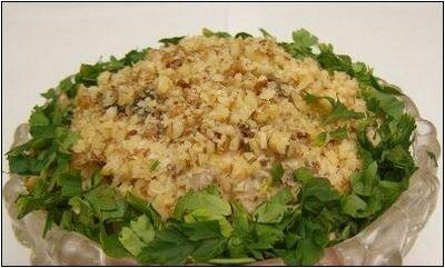 Салат из свинины с черносливом
