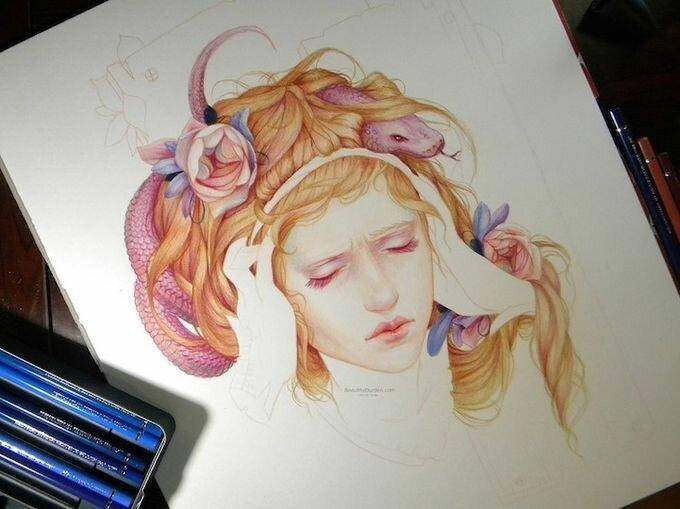 Романтические женские портреты в стиле фэнтези / Jennifer Healy