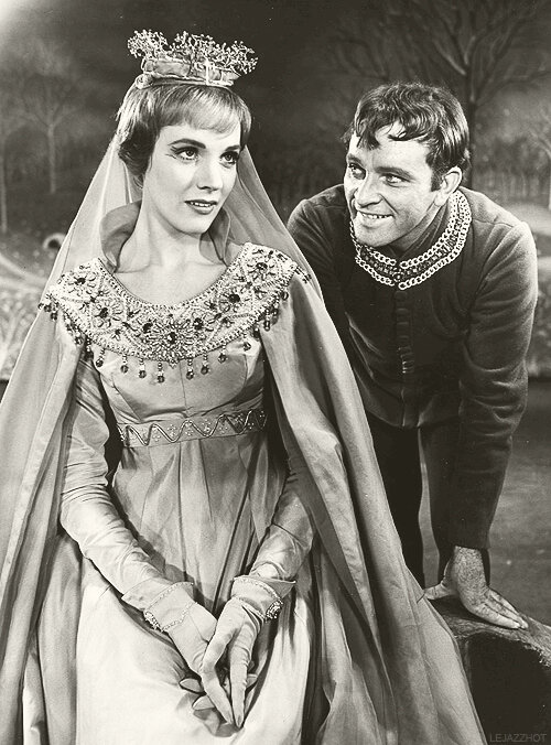Julie Andrews and Richard Burton in Camelot, 1960