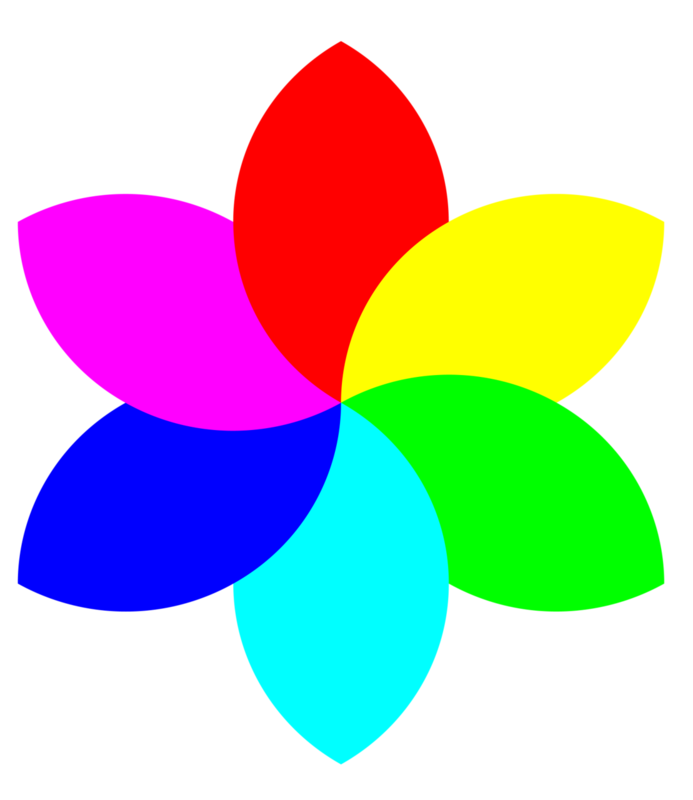 Гифка цветик семицветик на прозрачном фоне, открытка скрапбукинг