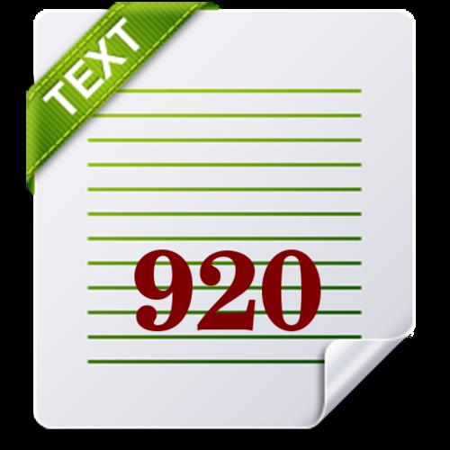 920 Text Editor