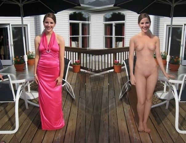 голая одевается фото