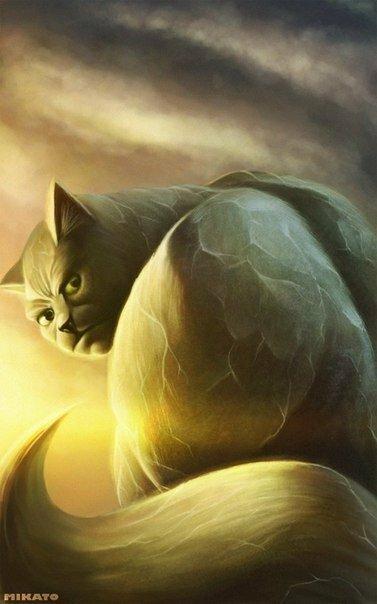 """Серия """"Коты супергерои"""" от художника под ником Mikato"""