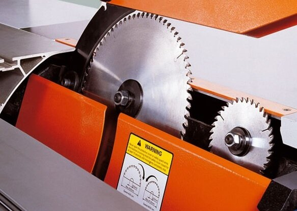 Knives sliding panel saw machine