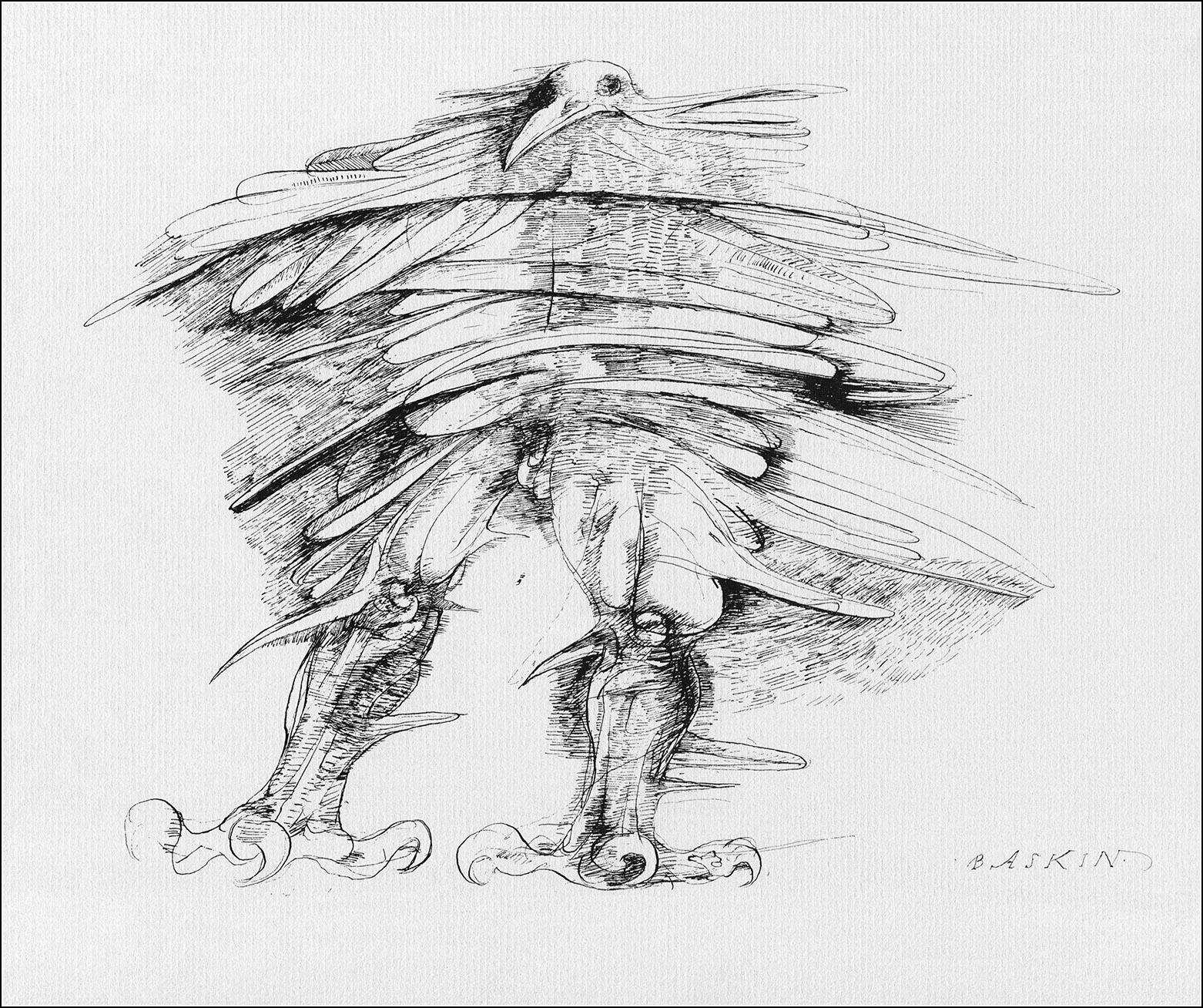 Leonard Baskin, Cave birds