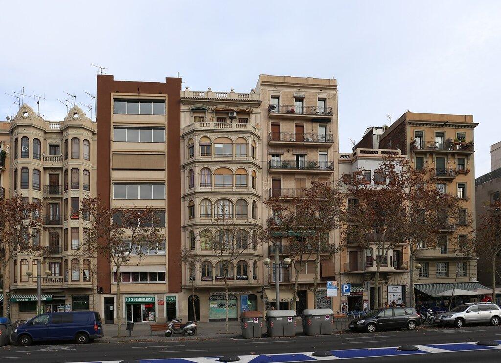 Barcelona. Barceloneta Quarter. /Passeig de Joan de Borbó. Barcelona, Batceloneta
