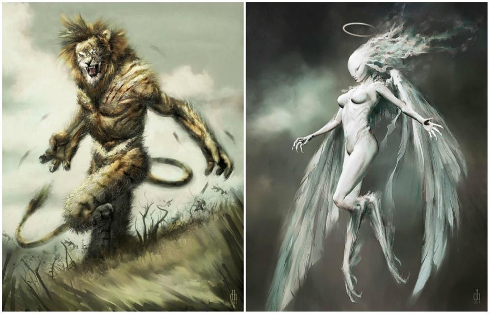 Дэймон Хелленбранд— талантливый американский художник. Онудивил нас смелой имощной подачей, скот