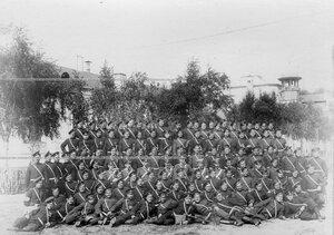 Личный состав 2-ой Оренбургской сотни полка.