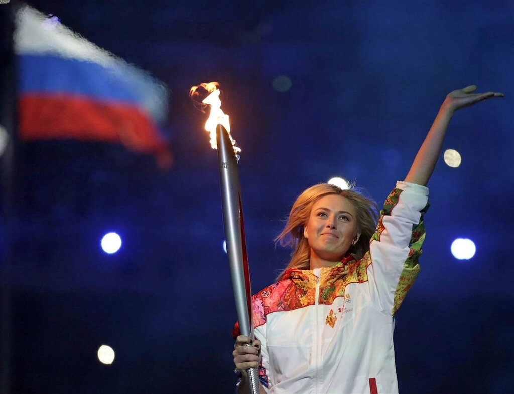 На церемонии открытия Олимпиады!