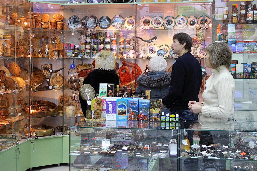 Магазин с сувенирами в аэропорту Горно-Алтайска