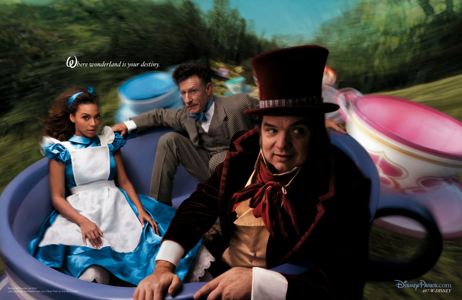 Disney's Year of a Million Dreams by Annie Leibovitz - Beyonce Knowles as Alice in Wonderland / Бейонсе Ноулз в образе Алисы в Стране чудес